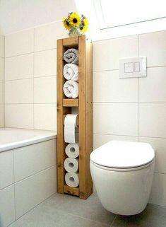 22 DIY Toilet Holder Ideas Whıch Enhance The Look Of Your Toilet 22 Diy Toilet Holder Ideas Wh?ch Enhance The Look Of Your Toilet! The post 22 DIY Toilet Holder Ideas Whıch Enhance The Look Of Your Toilet appeared first on Badezimmer ideen. Bathroom Organization, Bathroom Storage, Small Bathroom, Bathroom Towels, Bathroom Ideas, Neutral Bathroom, Funny Bathroom, Vanity Bathroom, Bath Towels