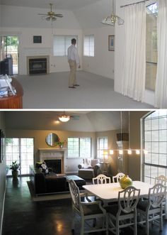 Living Area Before & After