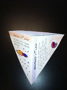 Newton's Laws of Motion  You will receive:  1. a short warm-up activity that has the students identify Newton's 3 laws 2. a sheet that describes Newton's laws 3. an exit ticket 4. an instruction sheet that shows how to create the pyramid shown 5. a lab demonstrating Newton's second law