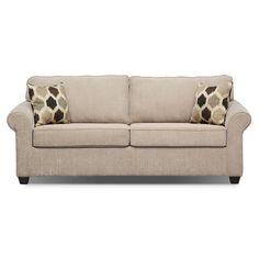 Living Room Furniture - Fletcher Queen Innerspring Sleeper Sofa - Beige