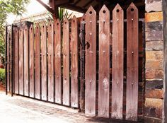 36 Best Model Desain Pagar Kayu Minimalis Modern Images Gate