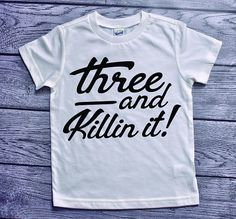 3rd Birthday Shirt Third 3 And Killin It