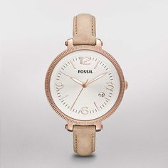 FOSSIL® Watch Styles Leather Watches:Women Heather Leather Watch - Sand ES3133