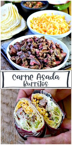 The best Carne Asada marinade recipe ever! Make these Carne Asada Burritos (or tacos) the center of your next family dinner night. The marinade is so full of flavor you'll never want to use anything else ever again! #beef #carne #asada #mexican #burrito #taco #marinade #authentic #lowcarb #keto steak #recipe Carne Asada Burrito, Burrito Bar, Carne Asada Marinade, Burritos, Meal Planning, Steak, Tacos, Mexican, Beef