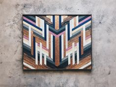 """Nisha Verma - Wall Art - 50""""x40"""" Made from reclaimed house wood from Nashville, TN & textured copper"""