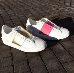 Get sporty with these kicks from @maisonvalentino now on #KRAVESALE