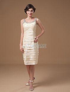 Taft natürliche Taile Etui festliches Brautmutterkleid/ Abendkleid