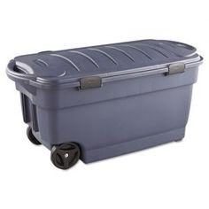 Rubbermaid Roughneck Wheeled Storage Box 45gal Dark Indigo Metallic - Wheeled shatter-resistant  sc 1 st  Pinterest & 8 best Storage Containers images on Pinterest | Storage bins ...