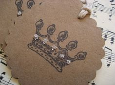 crown tag, paper craft, gift tags