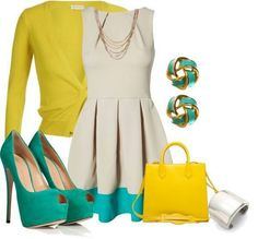 i love turquoise and yellow together very cute