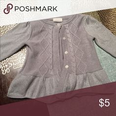 Silver Shimmery Cardigan Crazy 8 Cardigan! Great condition. Size is 3T but if your child is on the taller side (mine is about 74th percentile) this may be too small! Shirts & Tops Sweaters