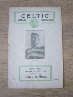 1949/50 CELTIC V ST MIRREN