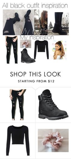 """""""All black outfit inspiration"""" by star-lightt on Polyvore featuring Klique B and Timberland"""