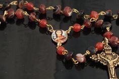 OOAK Rosary 'Saint Kateri Tekakwitha' First Native by LonelyCoyote, $43.00