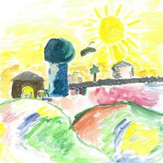 Wonderful Year 6 watercolour of Bethlehem
