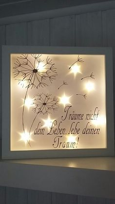 This beautiful illuminated picture frame is a real eye-catcher. Also unlit an absolute eye-catcher. The white frame has a size of about cm.