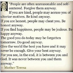 Mother Teresa - Do it Anyway