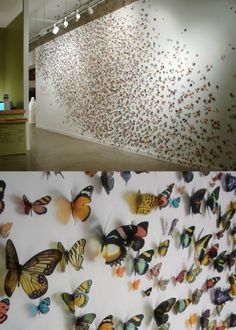 What an Art Piece. I would so luv to have a wall like this...just not so low cause my kids would tear them off... E*