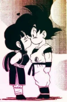 Goku and Chi-Chi I swear the only reason I save some pins is to correct the name misspelling! Goku was gaku. Dragon Ball Gt, Dragon Z, Goku E Chichi, Milk Y Goku, Home Bild, Kid Goku, Anime Love, Anime Art, Sketches