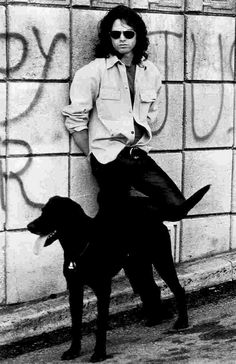 Jim Morrison and his dog.