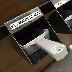 Here individual bar-mount holsters are the outfitting key to Bulk Food Dedicated Scoop Definition and storage convenience. Edamame Beans, Bulk Food, Holsters, Definitions