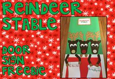 Get into the Christmas spirit and jazz up your classroom door with this FESTIVE reindeer stable FREEBIE!Your students will LOVE adding their names to the nice list (and maybe even some teachers names - or popular story book characters -  to the naughty list!)  Designed to be printed and glued onto 4 larges pieces of card!ENJOY!