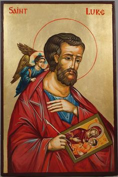 Apostle Luke the Iconographer Hand-Painted Byzantine Icon