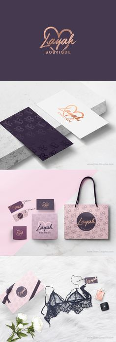 Packaging and branding for Layah Boutique by One-Giraphe on Behance PD