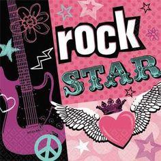 Rock Star Girl Beverage Napkins ** You can get additional details at the image link.