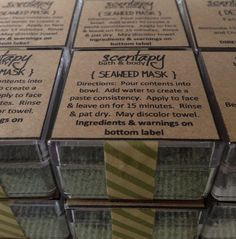 100 Seaweed Face Mask by Scentapy on Etsy, $5.00