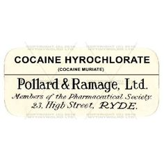 2-Mini-Apothecary-Labels-Cocaine-Hyrochlorate