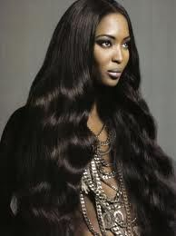 Xpose notices the wig trend - here, Naomi Campbell wears a black human hair wig Naomi Campbell, Natural Wigs, Natural Hair Styles, Long Hair Styles, Weave Hairstyles, Straight Hairstyles, Cool Hairstyles, Human Hair Lace Wigs, Remy Human Hair