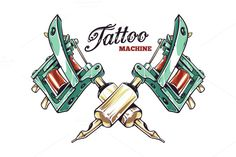 Tattoo Machine by Vecster on Creative Market