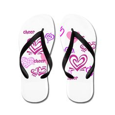 Nyou Love Cheer Lightweight Unisex Flip Flops Flat Sandals Available in Various Colors and Sizes ** You can get more details by clicking on the image.