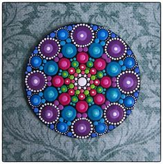 Mini+Original+Round+Painting+Jewel+Drop+Mandala+by+ElspethMcLean,+$20.00