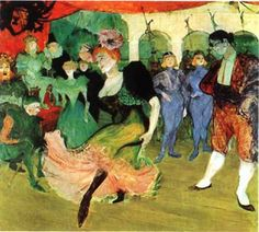 Moulin Rouge Toulouse-Lautrec Paintings | moulin rouge par toulouse lautrec 1890 philadelphia museum of art