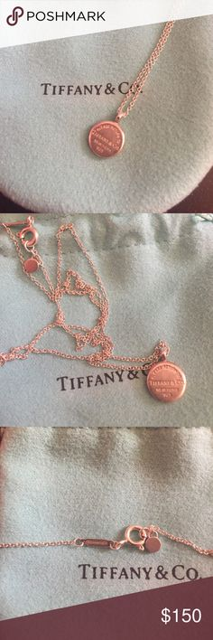 Return to Tiffany circle pendant Return to Tiffany® circle pendant in sterling silver. Bought 2 months ago. Worn once. Includes dust bag and original box. Make an offer will negotiate. Tiffany & Co. Jewelry Necklaces