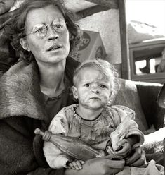 Faces of the Great Depression, USA 1930s.