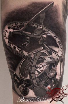 Remis Cizauskas timepiece steampunk gear tattoo