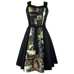 Women's Edgar Allen Poe Inspired Full Circle Dress / Rebel Circus