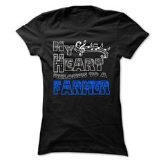 My Heart Belongs to Farmer - Cool T-Shirt !!! - If you are Farmer or loves one. Then this shirt is for you. Cheers !!! (Farmer Tshirts)
