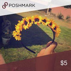 Headband Sunflower headband Accessories Hair Accessories