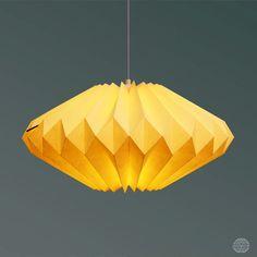 Lámpara origami: Lydia vainilla por DanielleOrigamiLamps en Etsy