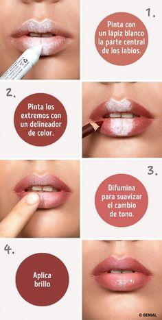 3 trucos paso a paso para dar volumen a tus labios