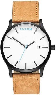 dd7343b39d5 MVMT Classic Series - 45 mmWhite Black Tan Classic White