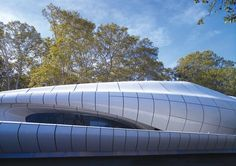 Zaha Hadid's Chanel Contemporary Art Container in New York's Central Park in 2008 Fibre-reinforced polymer composite panels