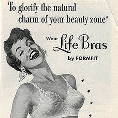 """So it's called """"The Beauty Zone"""" -  Vintage Lingerie Ads"""