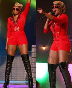 Celeb Style: Mary J. Blige Blazed The Stage with All Red in Philadelphia