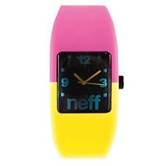 Neff Time BANDIT WATCH Water Resistant Custom Movement & Silicone Strap #Neff #Fashion