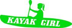 kayak girl sticker decal for car truck van kayak boat by vinylefex, $4.99